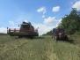Další pokračování sklizně řepky olejky, tentokrát na Dílech za sklepem…. (14. července 2014)