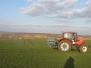 Jarní práce – rozmetání hnojiva….(24. února 2014)